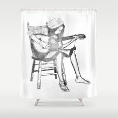 musical solitude Shower Curtain