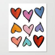 Hearts 2 Canvas Print