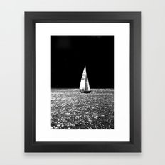 Sailing On The Lake  Framed Art Print