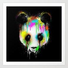 Panda Paint Face Art Print