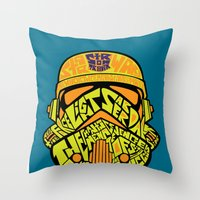 Neon Trooper. Throw Pillow