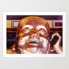 Shiny, Happy Buddha  Art Print