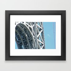 George Washington Bridge Arch Detail Framed Art Print