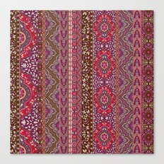 Farah Stripe Red Canvas Print