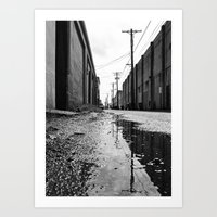 Gritty Tacoma alley Art Print