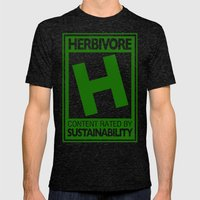 Rated H for Herbivore Mens Fitted Tee Tri-Black SMALL