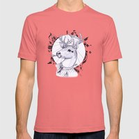 Deer In Dress Code  Mens Fitted Tee Pomegranate SMALL