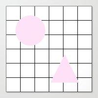 Pastel Circle & Triangle… Canvas Print