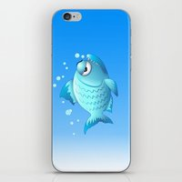 Grumpy Fish Cartoon iPhone & iPod Skin