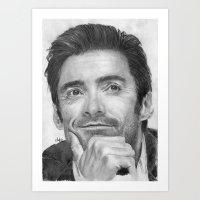 Hugh Jackman Traditional Portrait Print Art Print