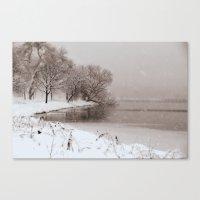 Snow Lake Canvas Print