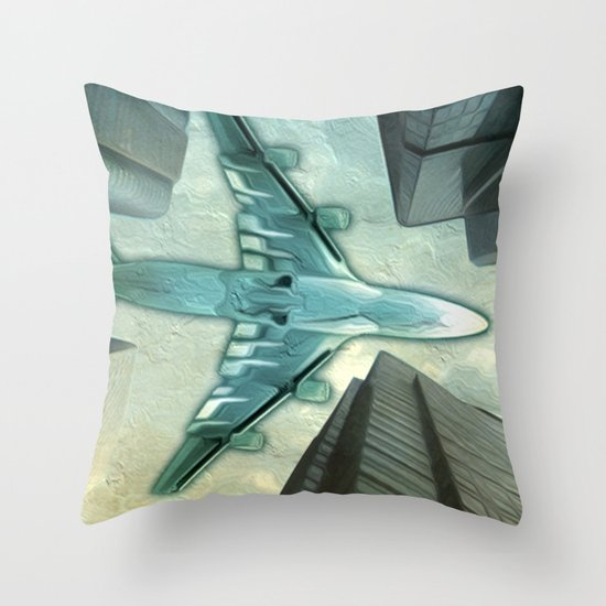 Flight path Throw Pillow