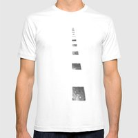 Minimalist Shadows Mens Fitted Tee White SMALL