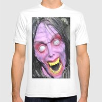 Scary Lady Mens Fitted Tee White SMALL