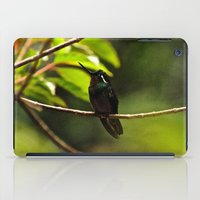 Hummingbird on a branch iPad Case