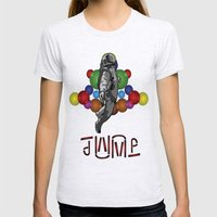 STEALTH JUMPMAN Womens Fitted Tee Ash Grey SMALL