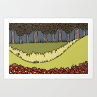 Flowers to Grass to Trees Art Print