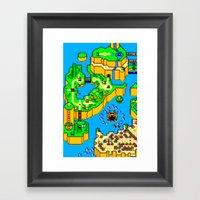 Mario World '84 Framed Art Print