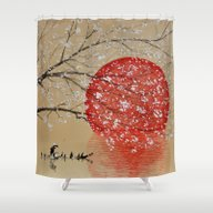 Shower Curtain featuring Japan by SMart