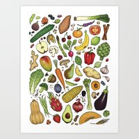 food Art Prints featuring Food by Sam Magee