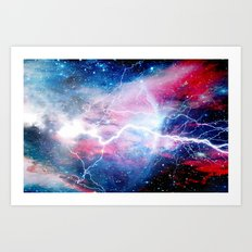 Starred Lightning Art Print