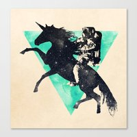Ride the universe Canvas Print