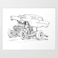 Gasser Chevy Art Print