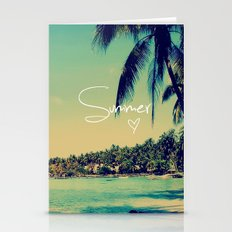 Summer Love Vintage Beac… Stationery Cards