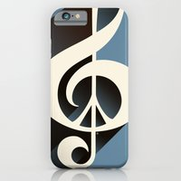 iPhone & iPod Case featuring Steal Blue Retro Music & Peace by Inspireuart