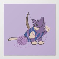 Cateye of the Catvengers Canvas Print