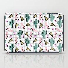 Sweetness - memphis retro grid cactus pastel neon 80s style classic socal beach life surf desert art iPad Case