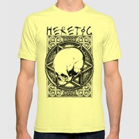 Star of David Mens Fitted Tee Lemon SMALL