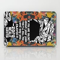 ZNH - If You Are Silent - Black Lives Matter - Series - Black Voices - Floral  iPad Case