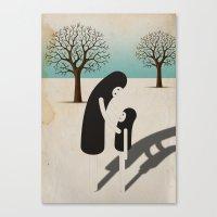 padre/figlio Canvas Print