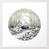 Crop circle 01 Art Print