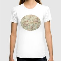 Adorkable Womens Fitted Tee White SMALL
