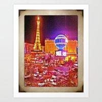 Vegas! Art Print