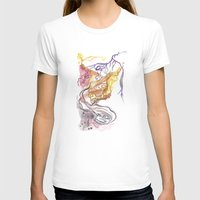 Iceland Abstracted: Krafla Womens Fitted Tee White SMALL