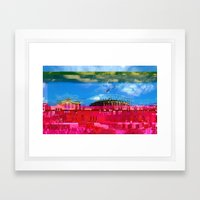 Beautifully Glitched Oslo, Norway Framed Art Print