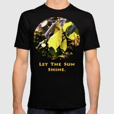 Let The Sun Shine Mens Fitted Tee SMALL Black