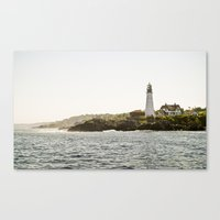 Lighthouse in Portland, Maine. Canvas Print