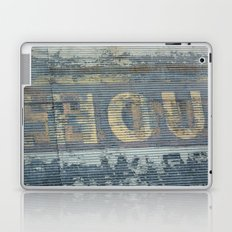 Warehouse District -- Rustic Country Chic Abstract with Letters Laptop & iPad Skin
