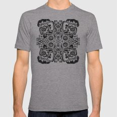 Skulls Mens Fitted Tee Athletic Grey SMALL