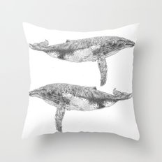 A Humpback Whale Throw Pillow