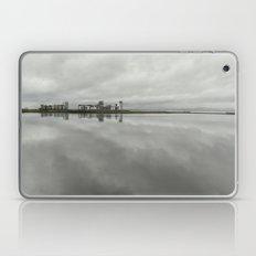 Edinburgh sea side, rainy day Laptop & iPad Skin