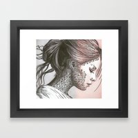 Flower Face  Framed Art Print