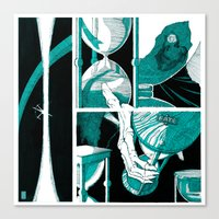 Fate (aquamarine v.01) Canvas Print