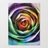 Rainbow Rose Canvas Print