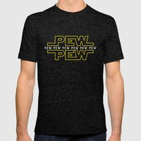 Pew Pew V2 Mens Fitted Tee Tri-Black SMALL