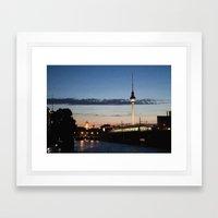 Berlin at night Framed Art Print